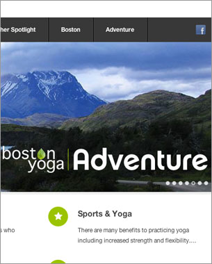 Web Site for Boston Yoga